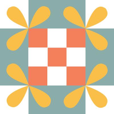 Image of The Honey Bee Quilt Block