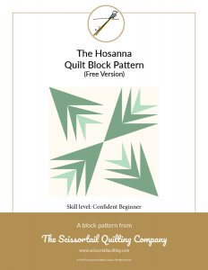 Cover for Hosanna Quilt Block Pattern