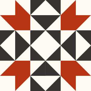 Image of The Indian Puzzle Quilt block