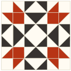 iMAGE OF the Exploded version of the Indian Puzzle Quilt block