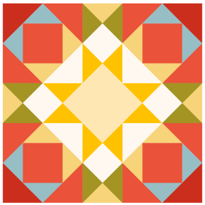 Image of Joseph's Coat Quilt Block