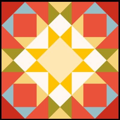 Image of Joseph's Coat Quilt Block
