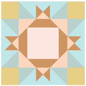 Image of King David's Crown Quilt block