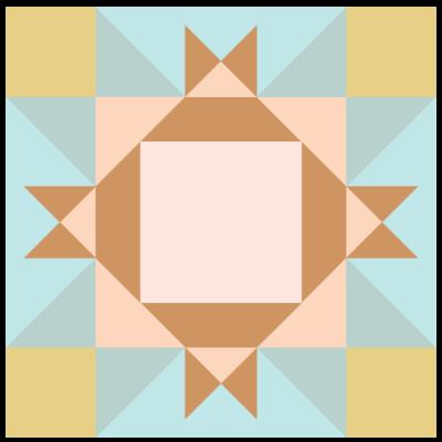 Image of King David's Crown Quilt block