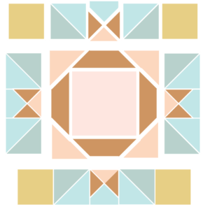 Image of Expanded version of King David's Crown Quilt block