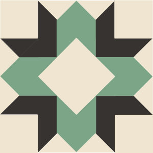 Image of The Laurel Wreath Quilt Block