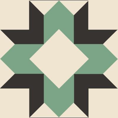 Image of The Laurel Wreath Quilt Block