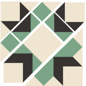 Image of the Exploded version of the Laurel Wreath Quilt Block