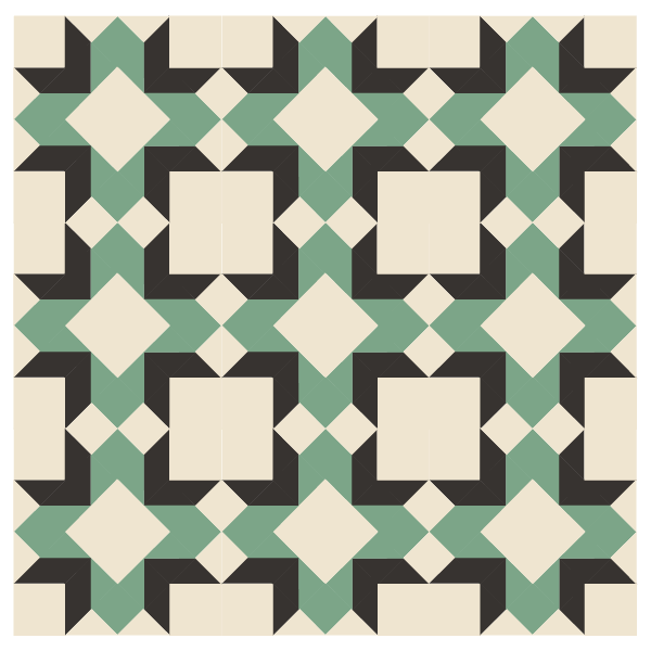 Illustration of a quilt made with Laurel Wreath Quilt Blocks