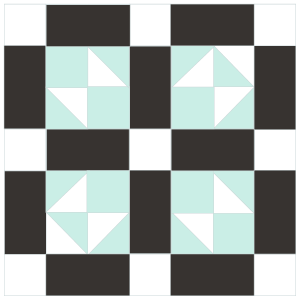 Image of The Lover's Tiff Quilt Block