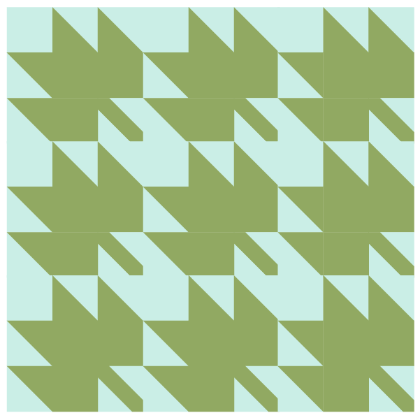 Straight set grouping of Maple Leaf Quilt Blocks