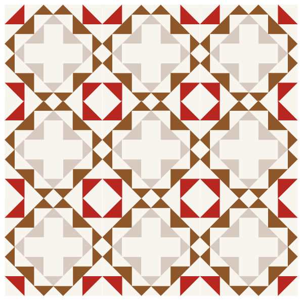 illustration of a quilt design using memory quilt blocks