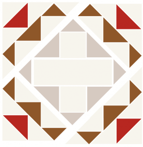 Exploded illustration of the memory quilt block