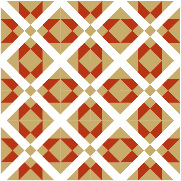 Illustration of a quilt design using the Mexican Cross Quilt Block