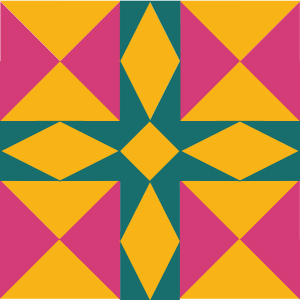 Illustration of the Minnesota Quilt Block