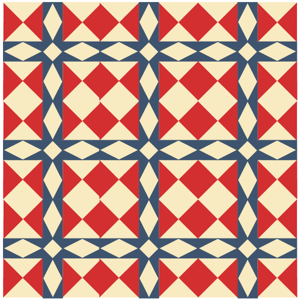 Illustration of a quilt using minnesota quilt blocks