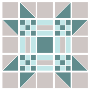 Image of Exploded version of the Missouri Puzzle Quilt Block