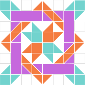 Image of Exploded version of Nancy's Fancy Quilt Block