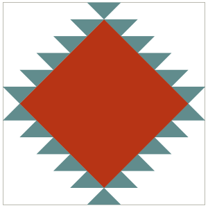 Image of the Navajo Quilt Block