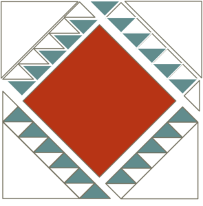Image of Exploded version of the Navajo Quilt block