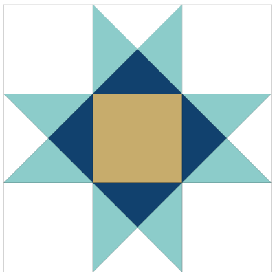Image of Alternate coloring of Ohio Star Quilt Block