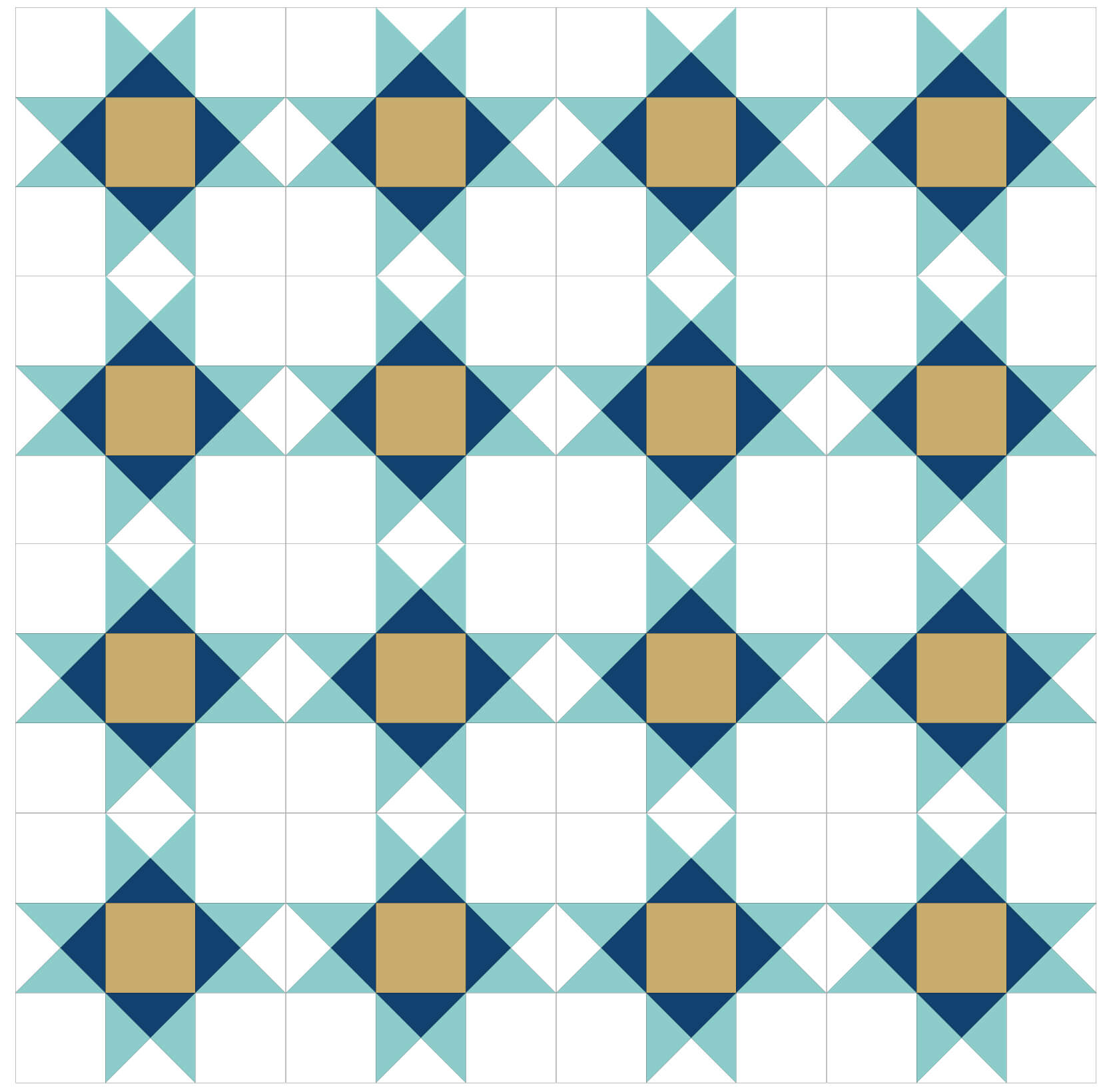 Illustration of a Quilt made with Ohio Star Quilt Blocks in Straight Sets
