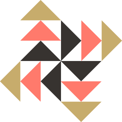 Image of Pinwheel Geese Quilt Block