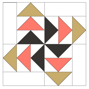 Image of Expanded version of Pinwheel Geese Quilt Block