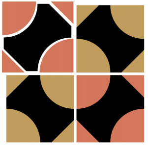 Exploded illustration of the pullman's puzzle quilt block