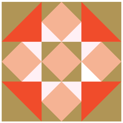 Image of The Sawtooth Quilt Block