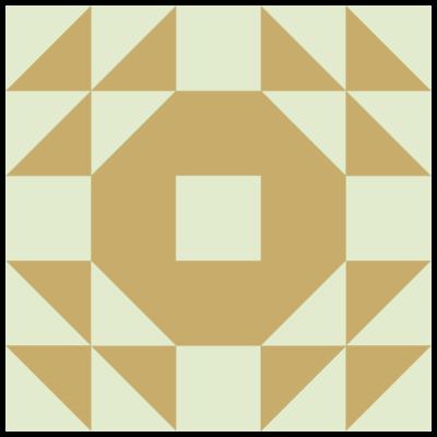 Image of Single Wedding Ring Quilt Block