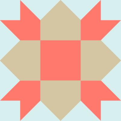 Image of the Weathervane Quilt Block