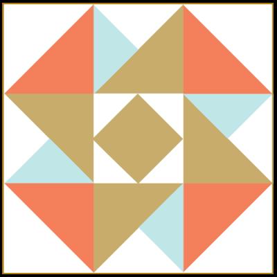 Illustration of the Air Castle Quilt Block
