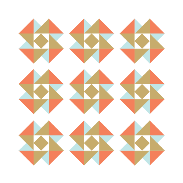 Illustration of an Air Castle Quilt with White Quilt Binding in which design FLOATS