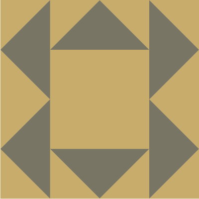 Illustration of the Buzzard Roost Quilt Block Pattern