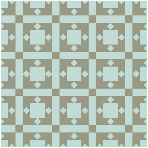 Illustration of a Grouping of Cross & Crown Quilt Blocks