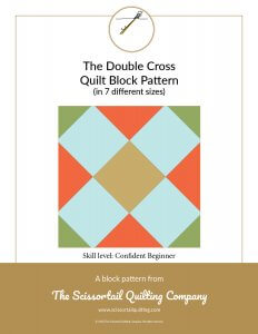 Click to download the Double Cross Quilt Block Pattern