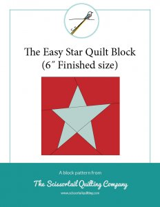 Thumbnail image for download of Easy Star Quilt Block Instructions