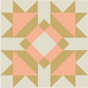 Illustration of the Four Queens Quilt Block