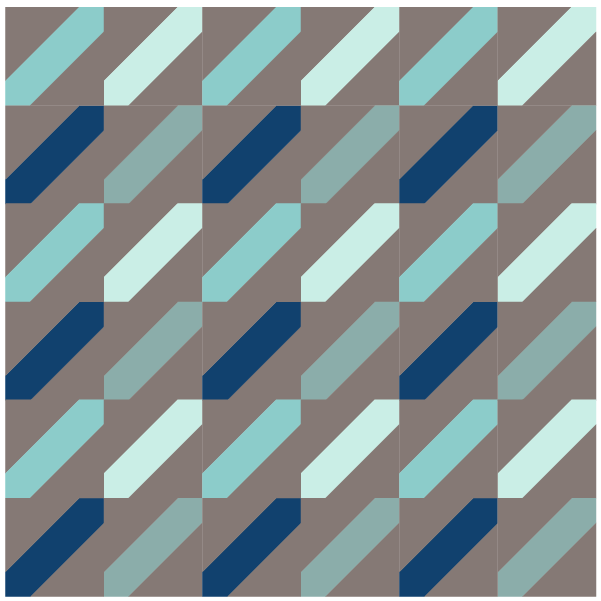 illustration of a quilt made with indian hatchet quilt blocks