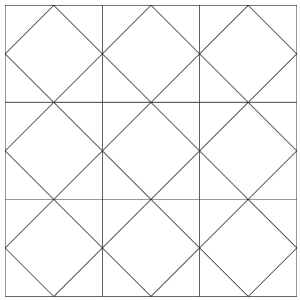 Outlined illustration of the kansas star quilt block