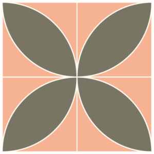 Illustration of the Exploded Version of the Orange Peel Quilt Block