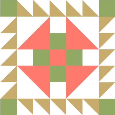 Image of Image of the Prickly Pear Quilt Block Pattern