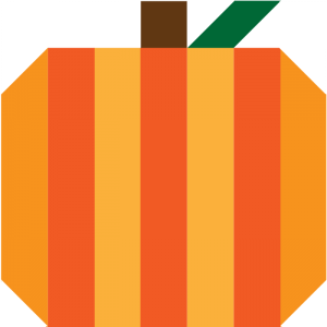 Illustration of Pumpkin Quilt Block (version 2)