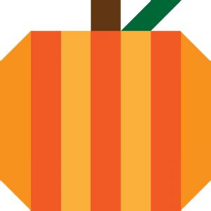 Illustration of Pumpkin Quilt Block (version 2)