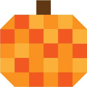 Illustration ofPumpkin Quilt Block (Version 1)