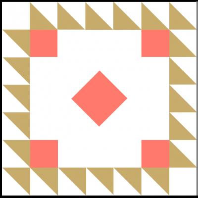 Illustration of Queen Victoria's Crown Quilt Block