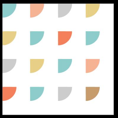 Illustration of the Snowy Windows Quilt Block