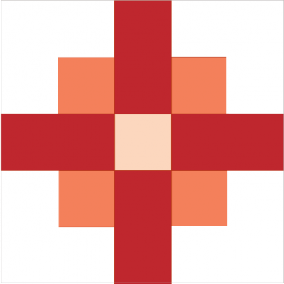 Illustration of the Star and Cross Quilt block