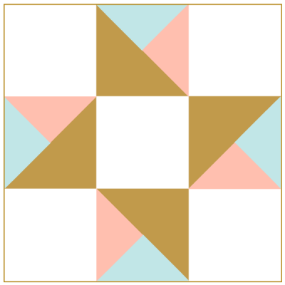 Illustration of The Twin Star Quilt block